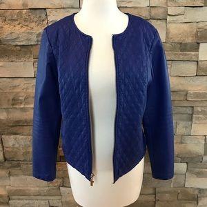 Alfani blue faux leather jacket